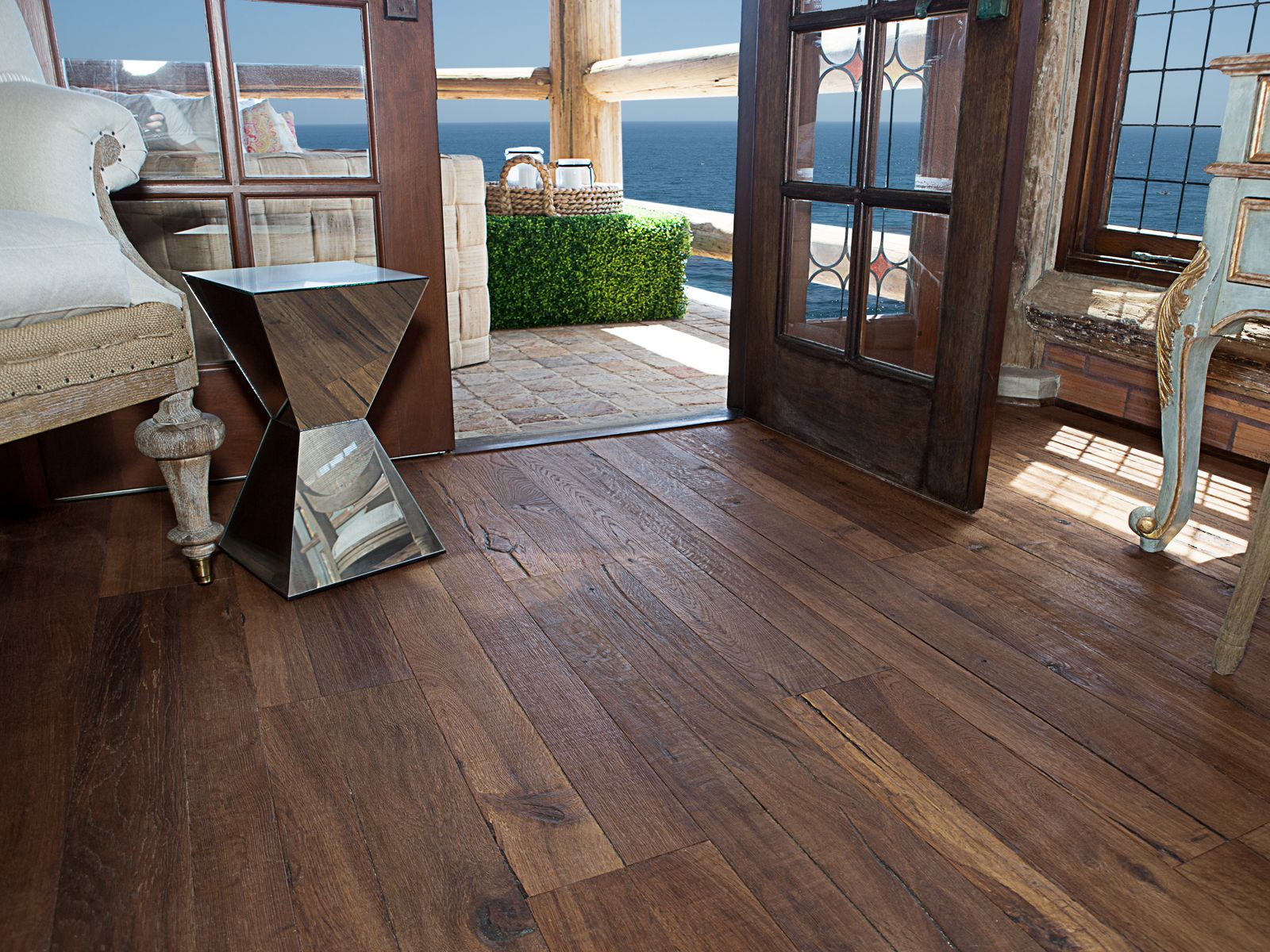 DuChateau Wide Plank Hardwood Flooring Floor is Trestle from the