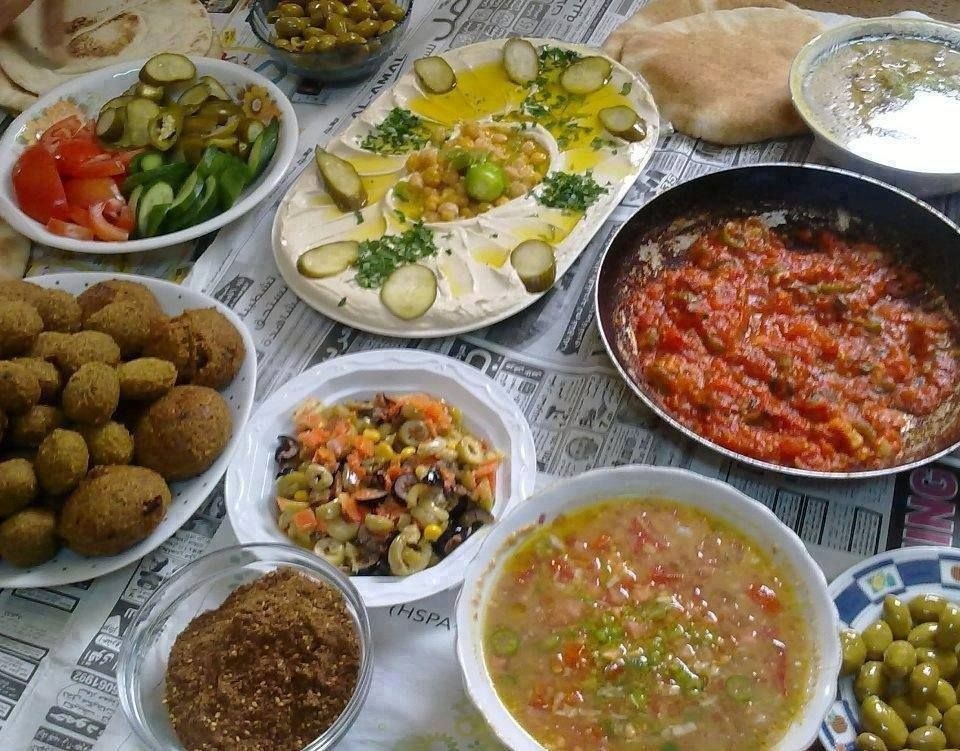 A Palestinian meal.  Ready for dinner? :)