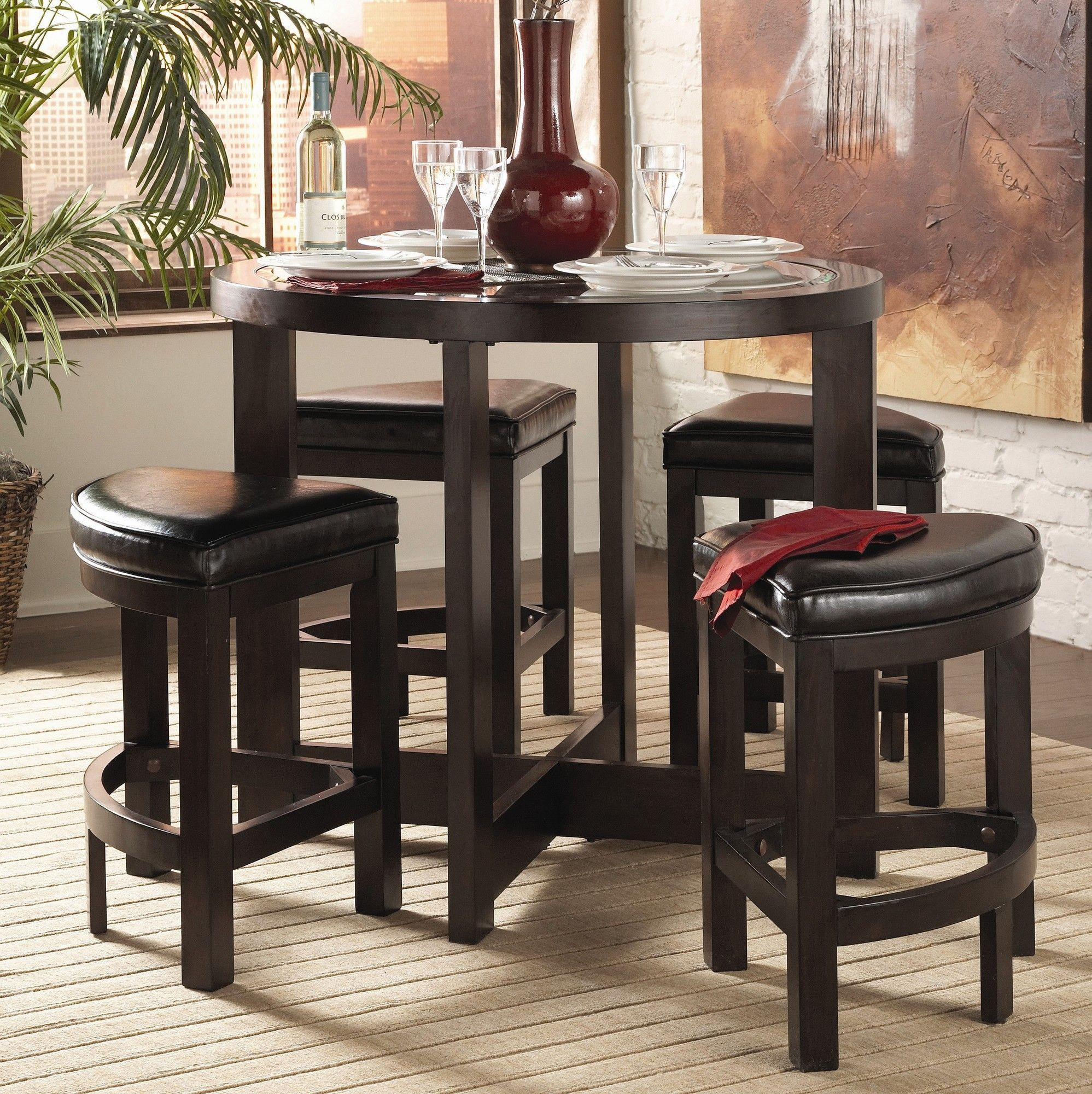 Woodhaven Hill 9 Series 9 Piece Counter Height Dining Set ...