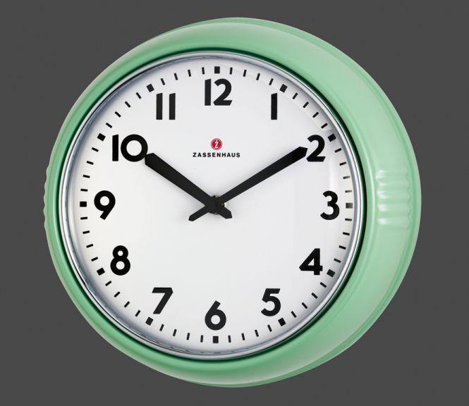 für die Küche Zassenhaus Retro-Wand-Uhr Mint | vreau ...