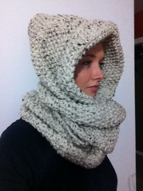 The Chanelle Hood/Infinity Scarf pattern by Chrissie Greene