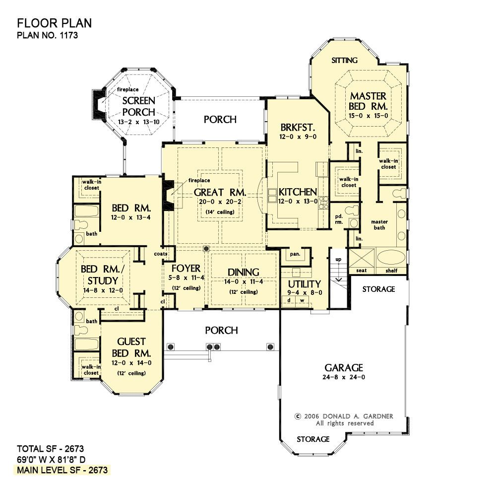 Home Plan The Marcourt By Donald A Gardner Architects Floor Plans Stairs Floor Plan House Plans