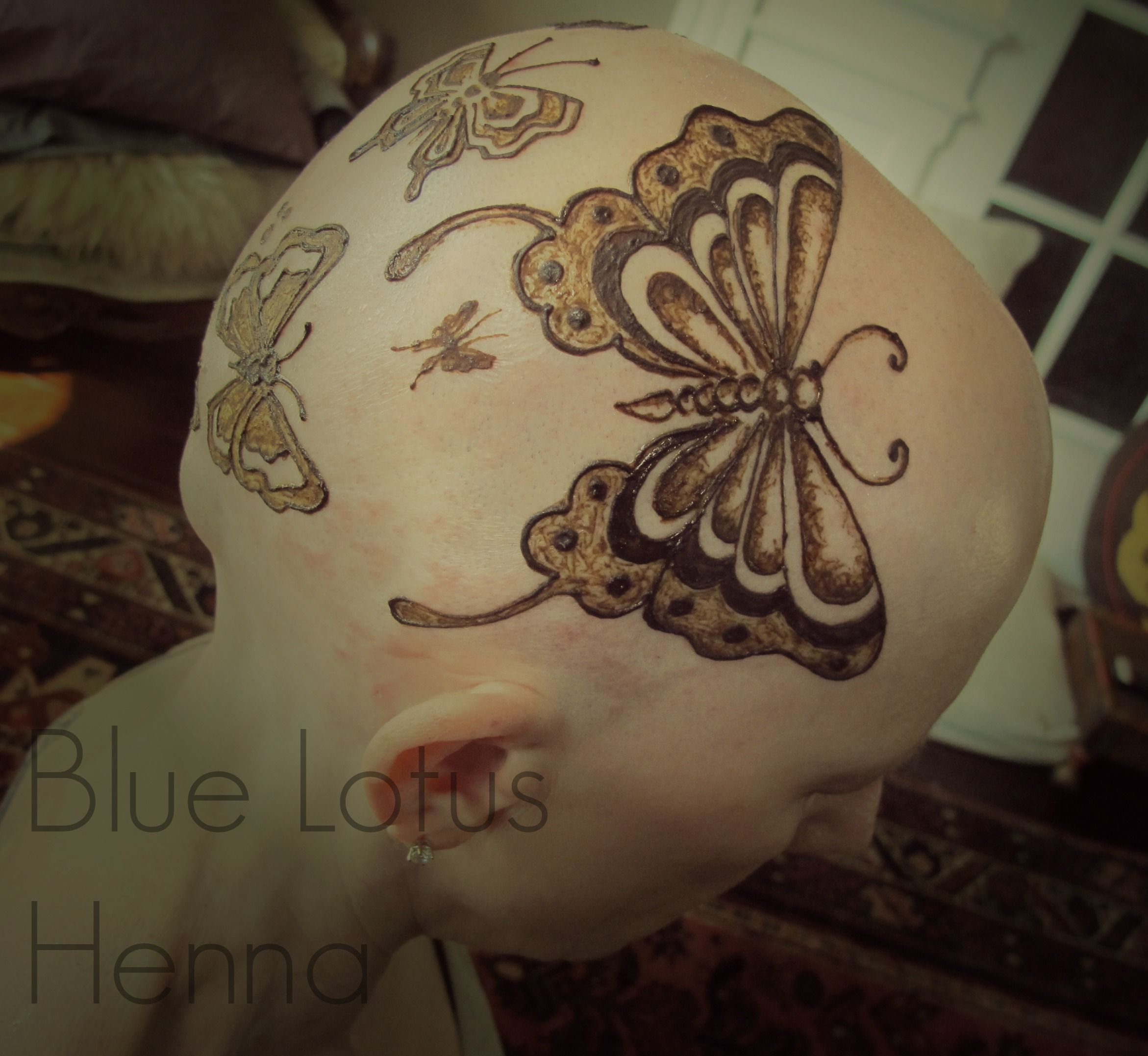 butterfly henna crown