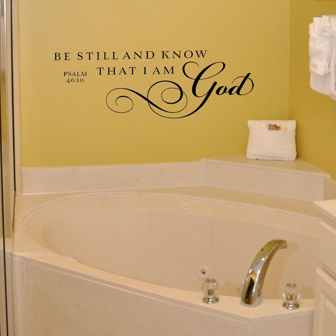 Be still and know that I am God - Vinyl Wall Decal Lettering Art ...
