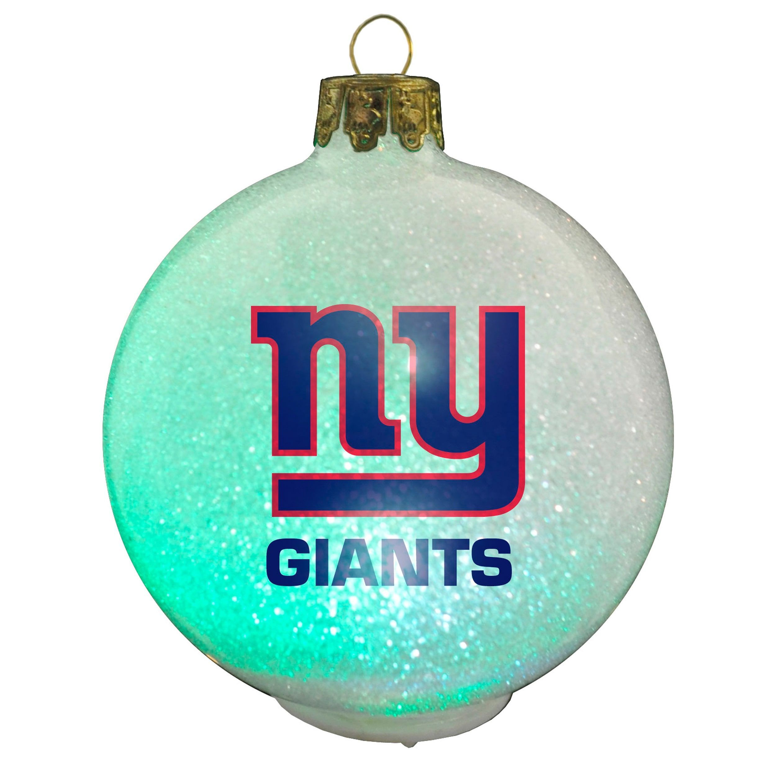 Classic Refurbished NFL New York Giants Color Changing LED Ornament ...