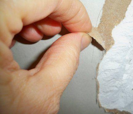 How To Repair Torn Drywall Paper Wallpaper Repair How To Patch Drywall Removable Wallpaper