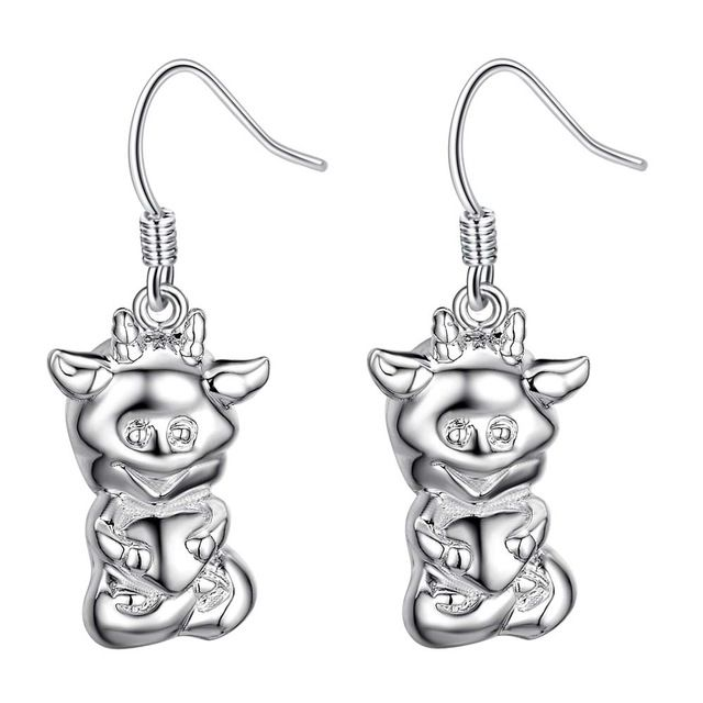 Smile cattle high quality Silver Earrings for women fashion jewelry earrings /BPSXCQAF SILHTXBN