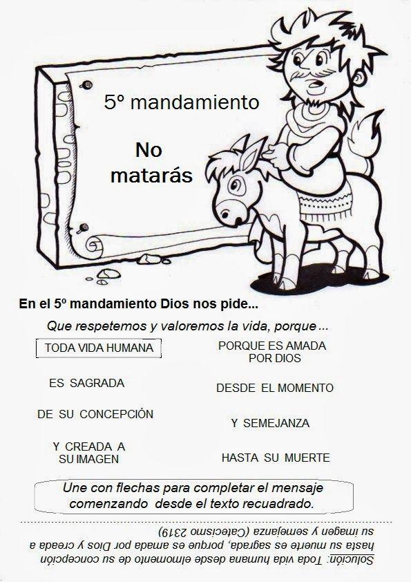 El Rincón de las Melli: JUEGOS con los 10 Mandamientos | Classe de ...