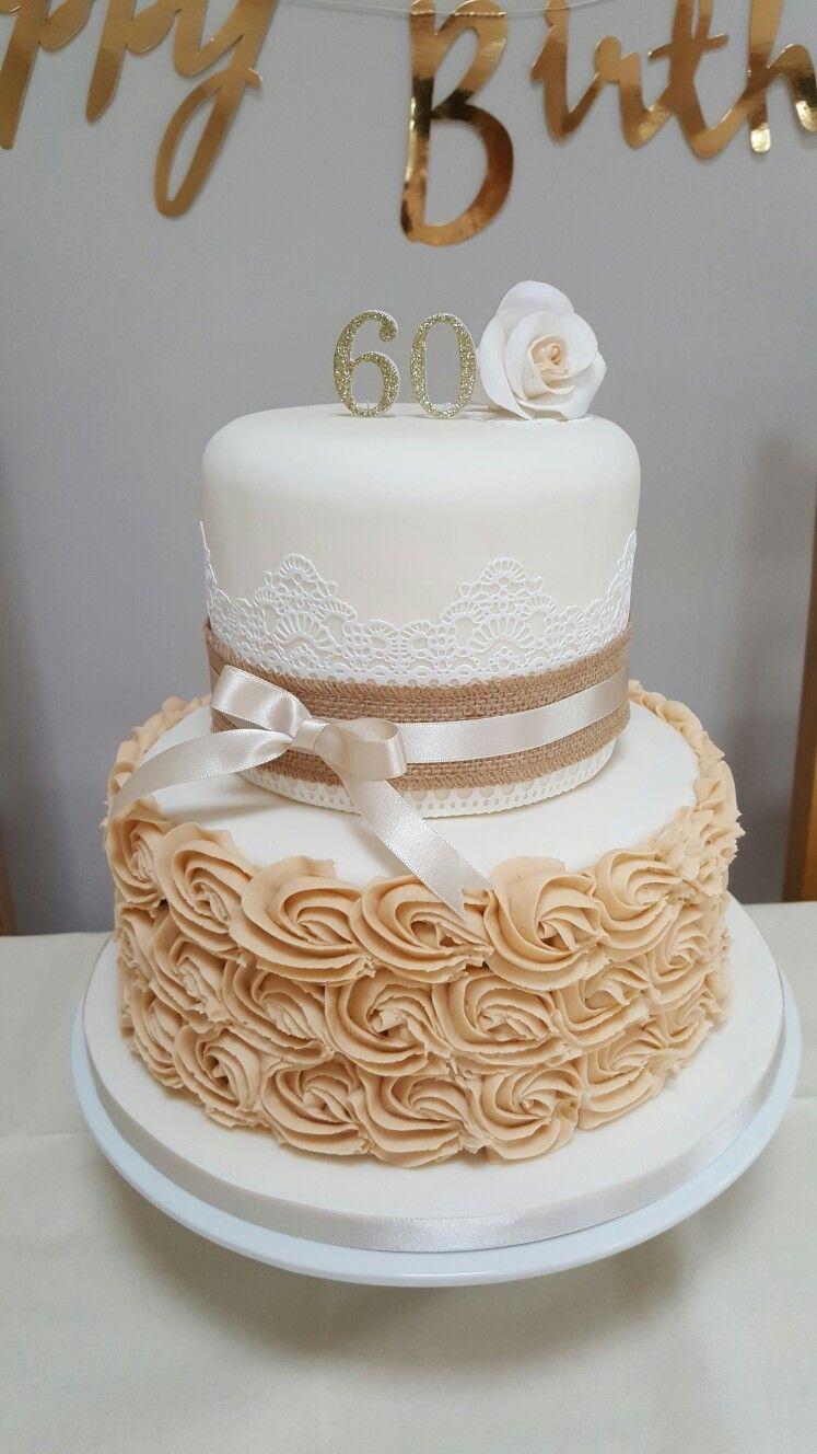 Sue's 60th birthday cake 60th birthday cakes, Birthday