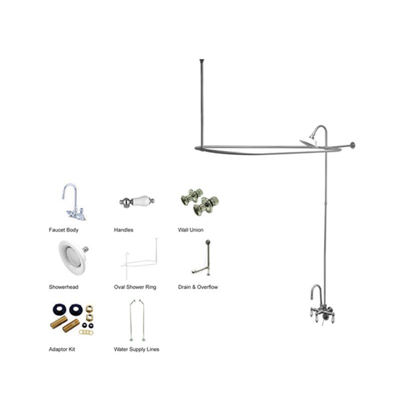 Kingston Brass Cck418 Pl Tub Shower Faucets Kingston Brass