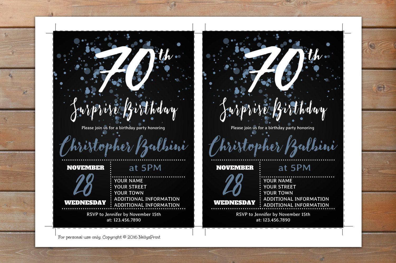 70th surprise birthday invitation adult birthday invitations 70th surprise birthday invitation adult birthday invitations surprise birthday invitation self editable pdf filmwisefo