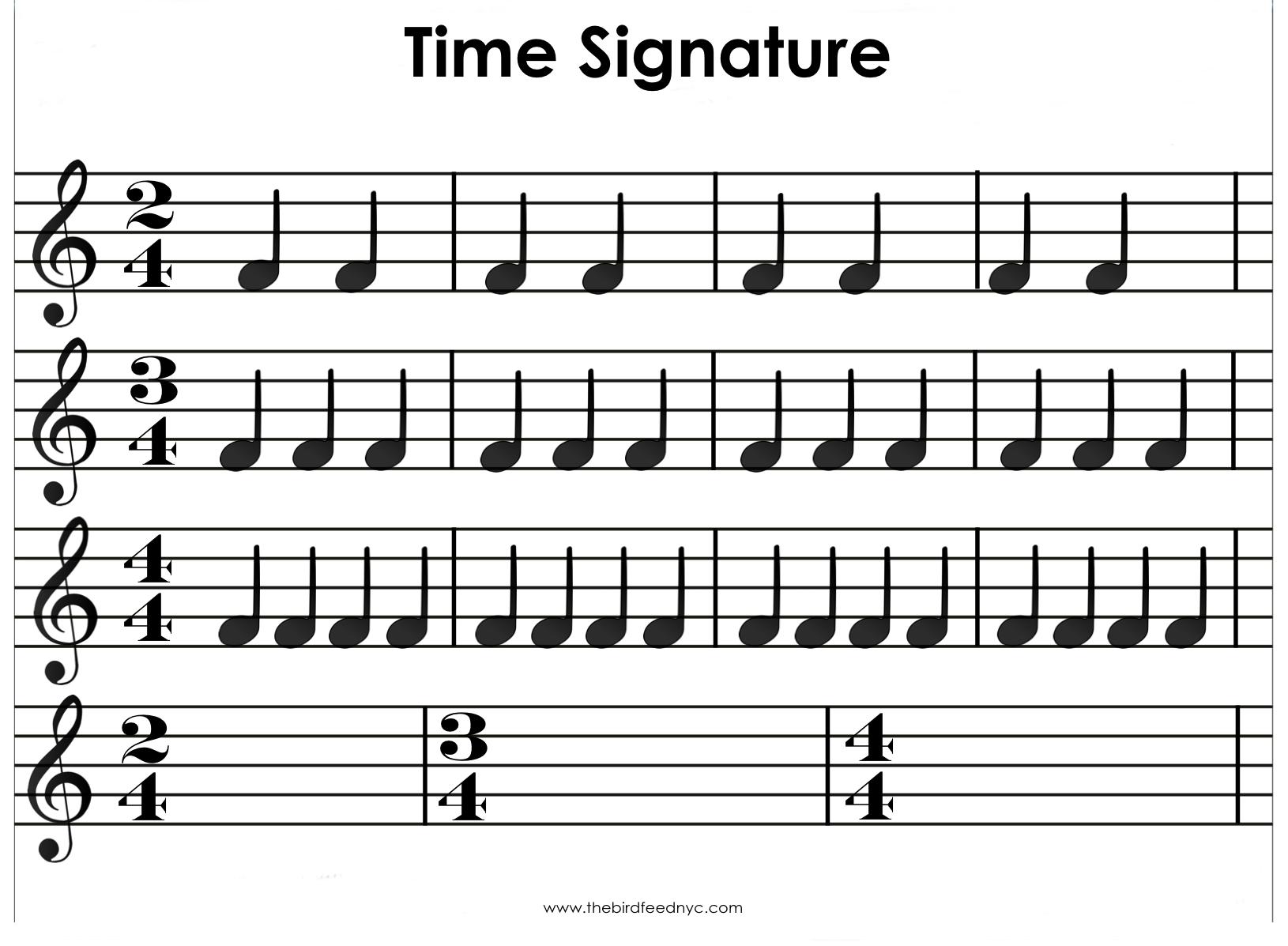 Time Signature Activity Sheet