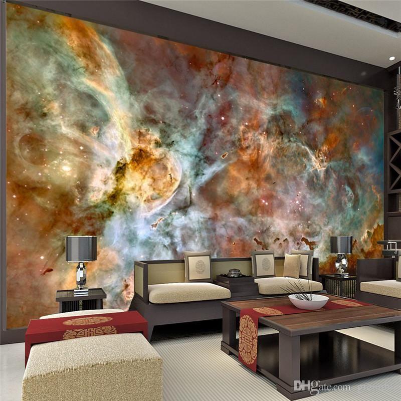 Charming Galaxy Wallpaper Nebula Photo 3D Silk Wall Mural Poster Large Art Room Decor Bedroom Kids Home Decoration