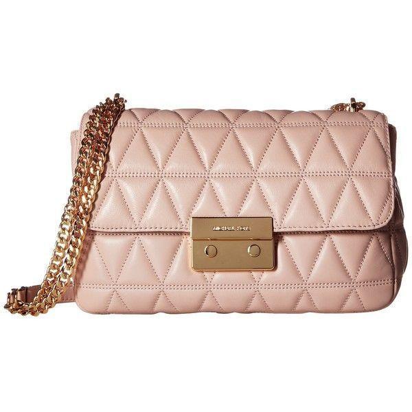 7e968e6ec089 MICHAEL Michael Kors Sloan Large Chain Shoulder (Soft Pink) Shoulder...  ( 246) ❤ liked on Polyvore featuring bags