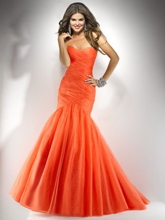 Hot Orange Prom Dresses