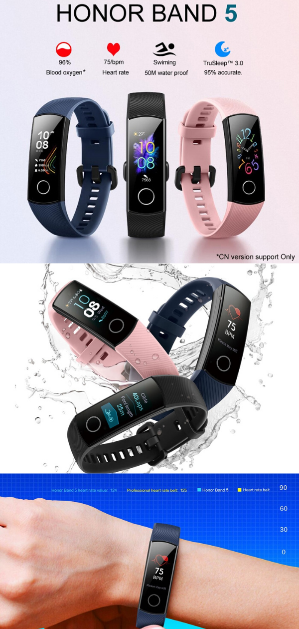 Huawei Honor Smart Band 5 Global Smart Band Watch Bands Huawei