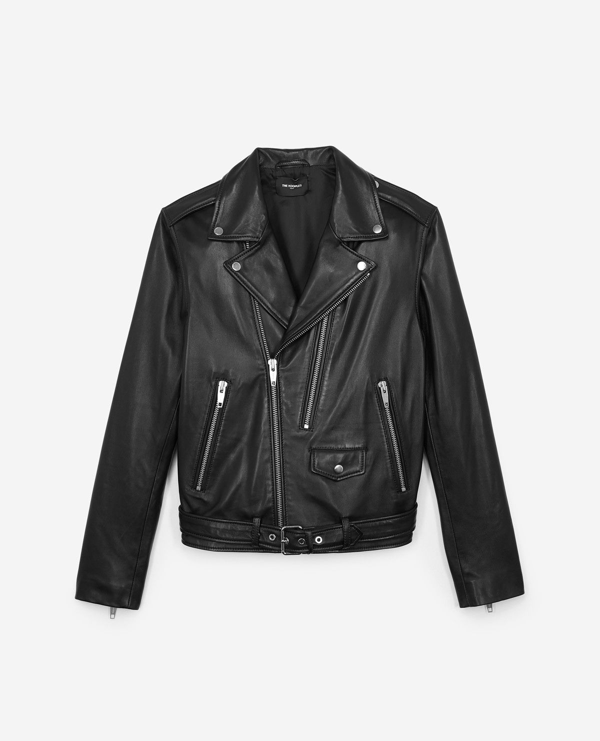 ce40caf9507 LEATHER JACKET WITH DOUBLE PULLER FRONT AND CENTRE - Collection THE KOOPLES