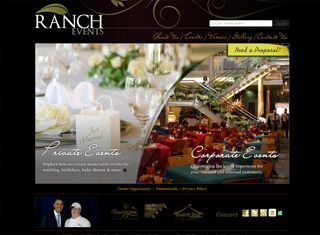 A great event planner website design example that uses images very