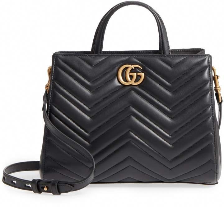 44d5fc77f027 Gucci GG Small Marmont 2.0 Matelasse Leather Top Handle Satchel  #Designerhandbags