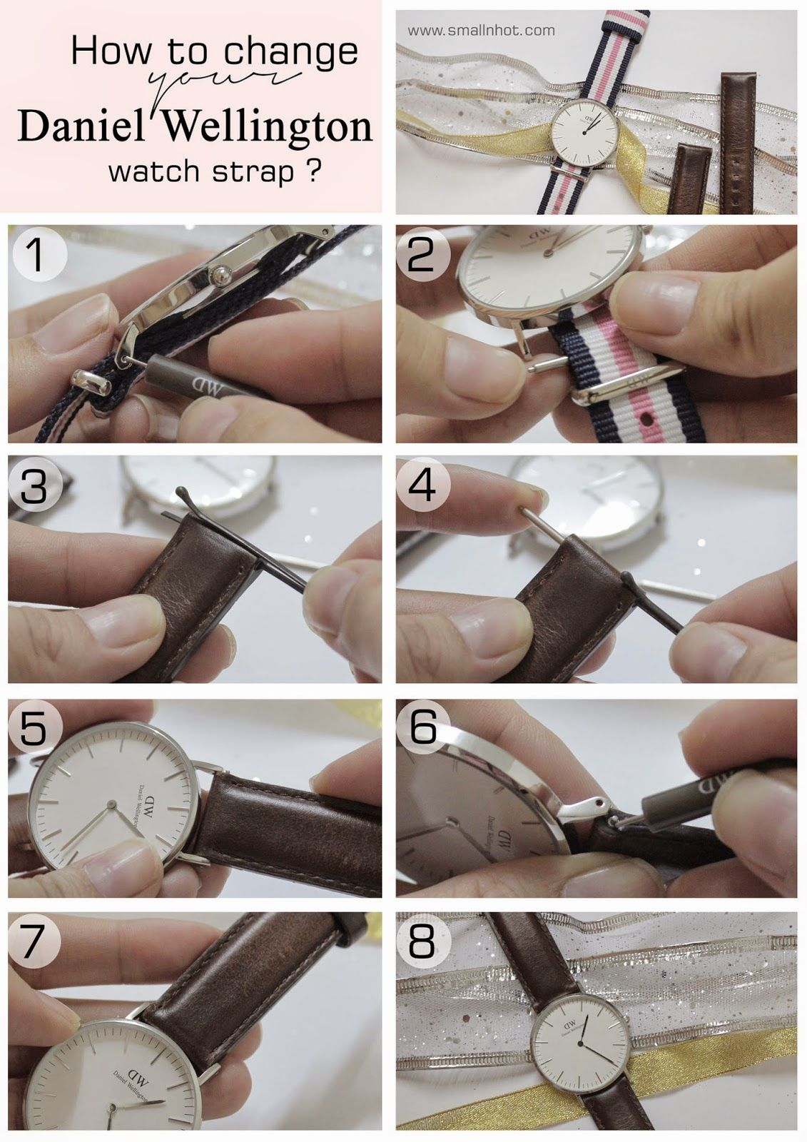 Tutorial How To Change Your Daniel Wellington Watch Strap With