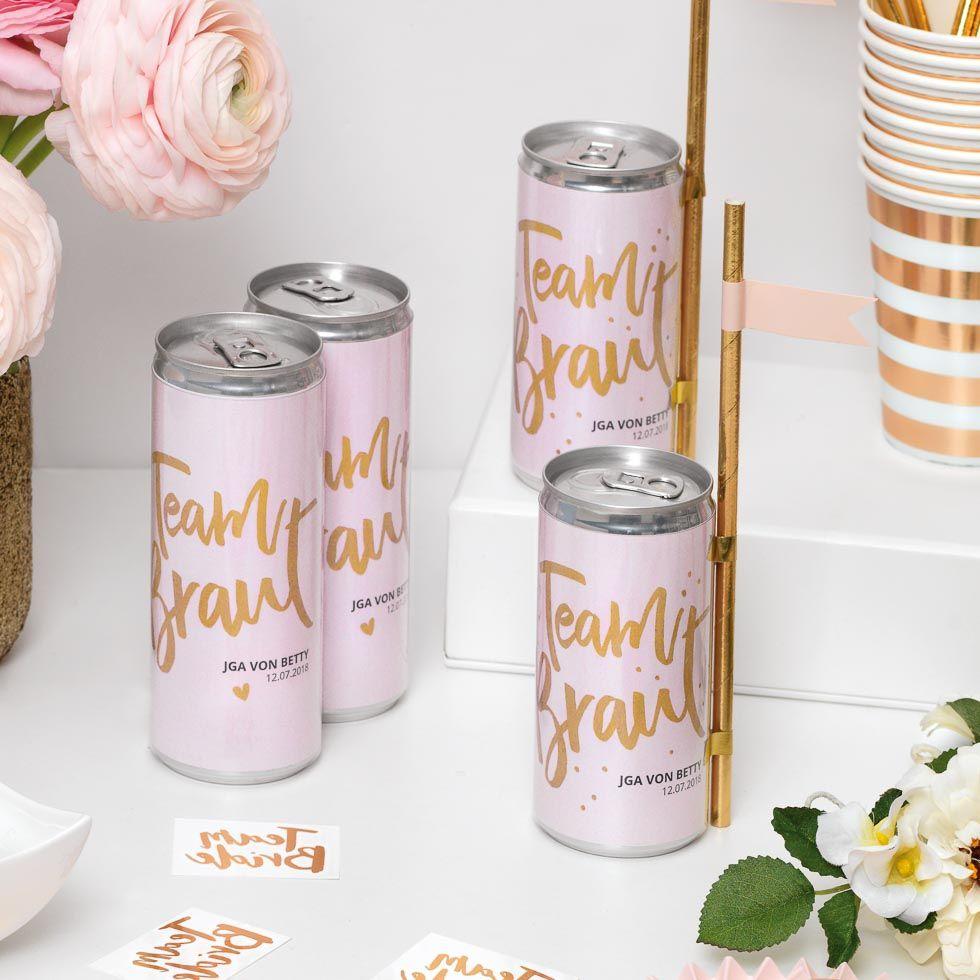 Dosenbanderole Team Braut  DIY Hochzeit  Freebies  Team braut Junggesellinnenabschied