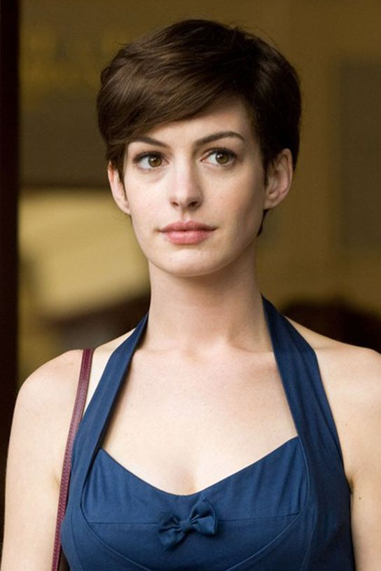 Anne Hathaway One Day 安妮海瑟薇 Anne Hathaway Short Hair