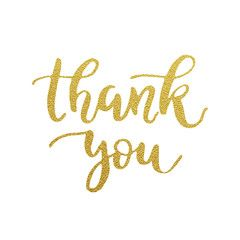 Thank You Golden Handwritten Vector Illustration Wedding Marketing Royalty Free Images Stock Images Free