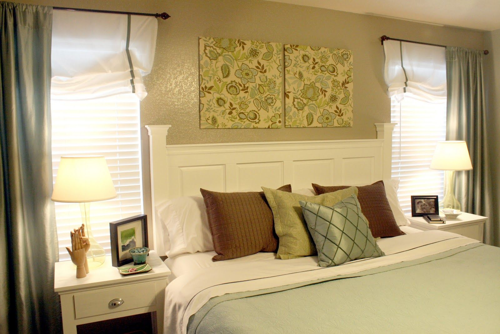 Headboards made from window shutters or cabinet doors. So cool! I ...