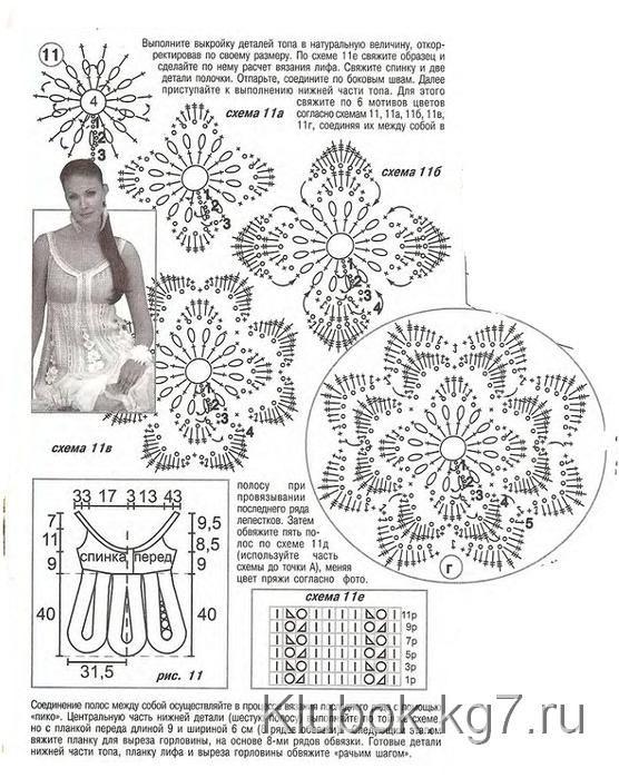 Вышивка по вязаному лентами 185