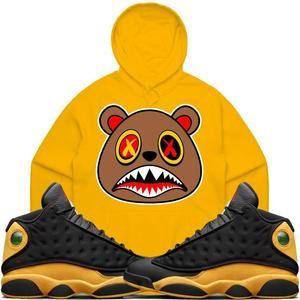 1635e7ce5c61 Baws Hoodie HONEY BAWS Gold Sneaker Hoodie - Jordan 13 Oak Hill Melo