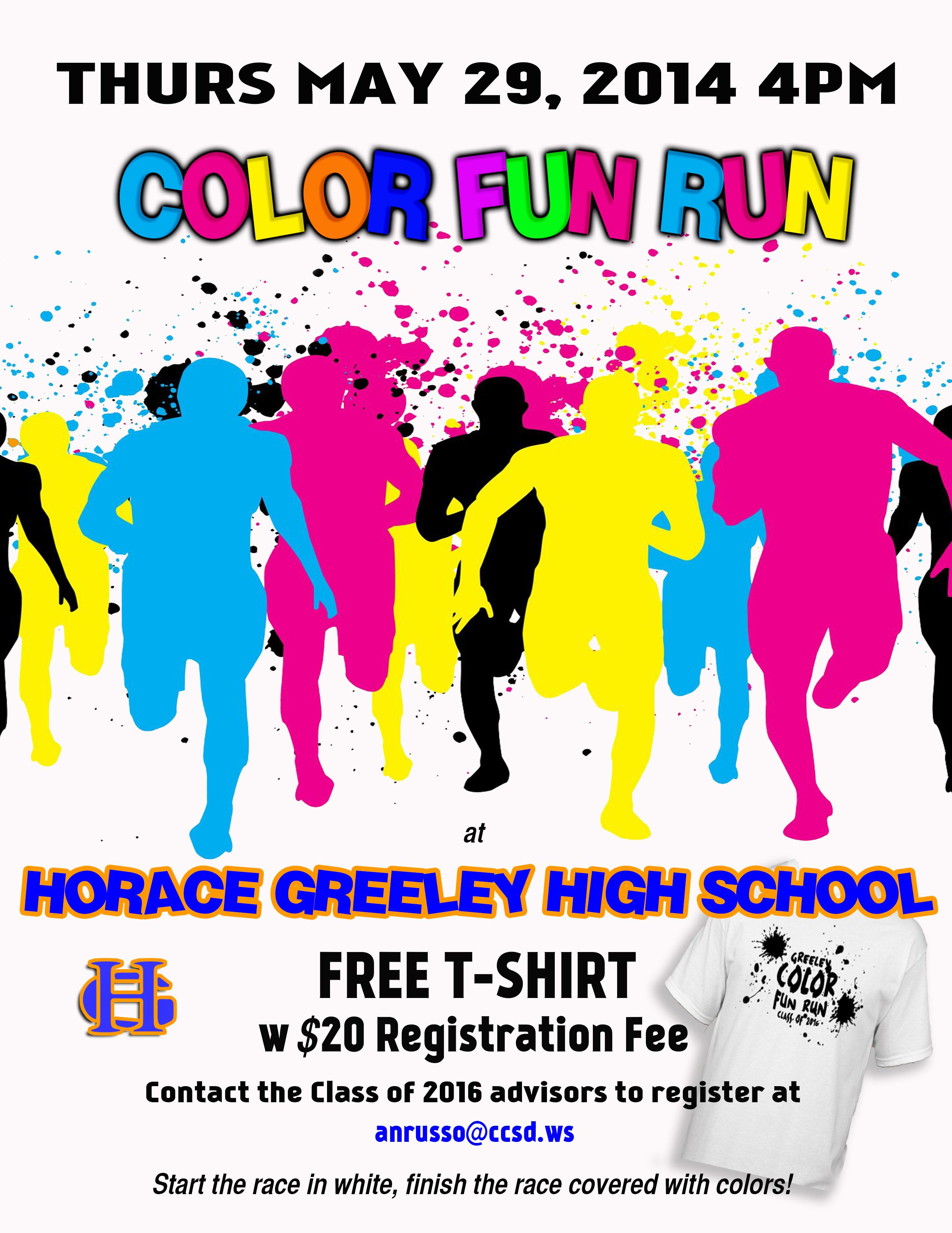 Ie Design For Color Fun Run At Horace Greeley High School Design