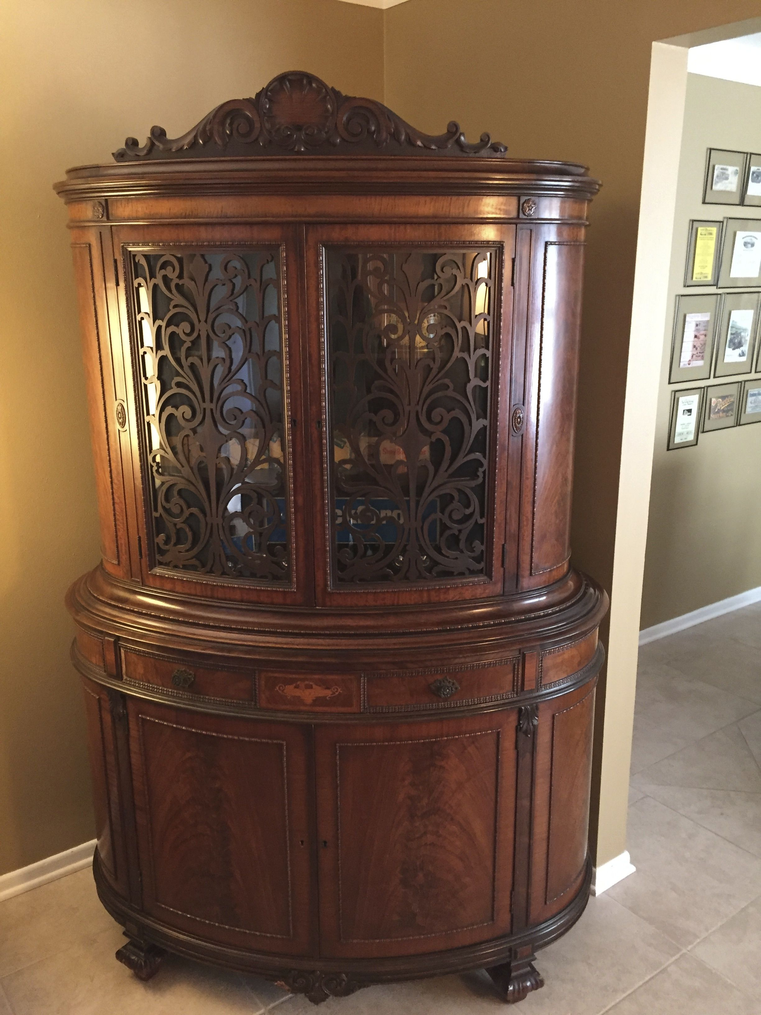 Mechanics Furniture Company Rockford Il Antique Hutch This Hutch Is Oval Shaped And Was A