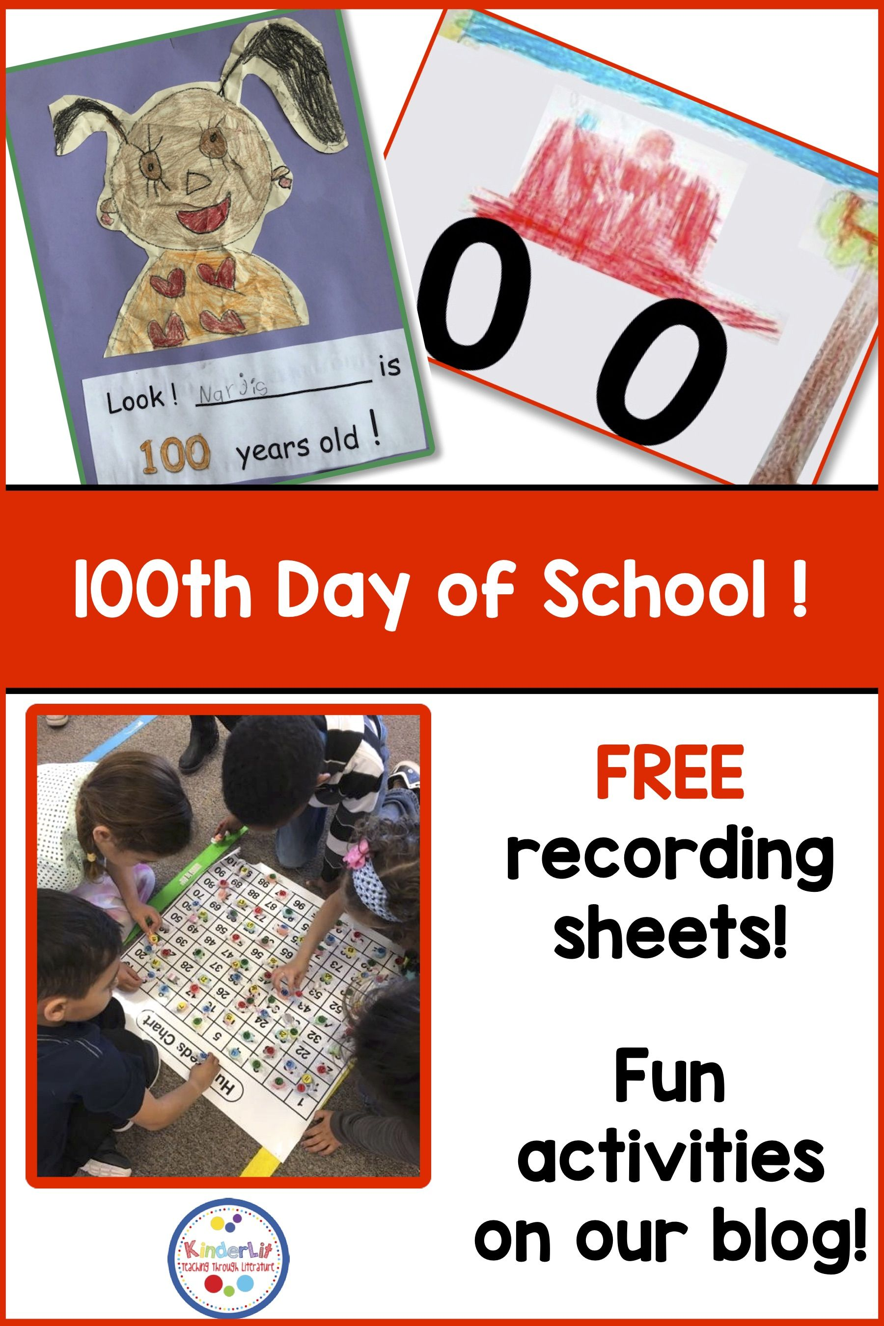Free 100th Day Recording Worksheets