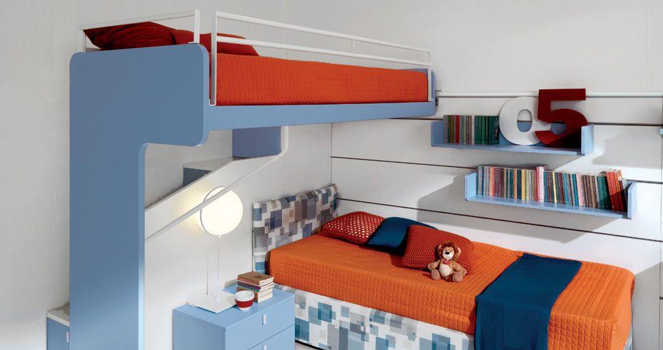 lit superpos d 39 angle pour enfant gar on castello di. Black Bedroom Furniture Sets. Home Design Ideas