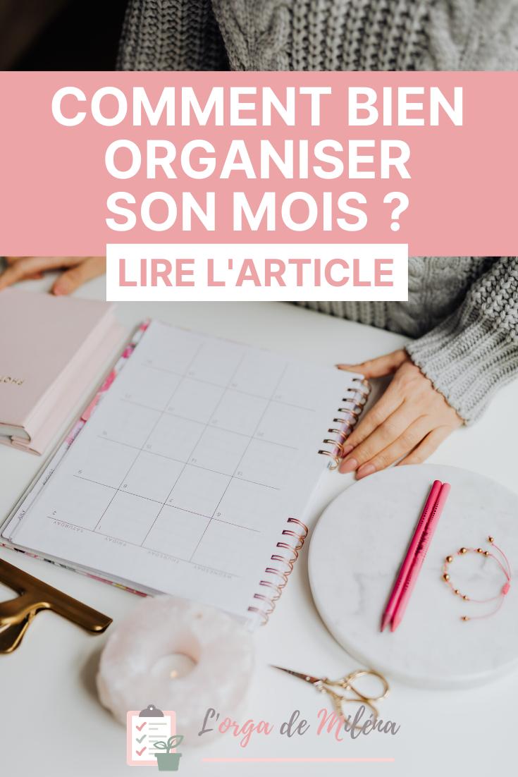 Comment Bien Organiser Son Mois L Orga De Milena Organisation Organisation Quotidienne Gestion Du Temps