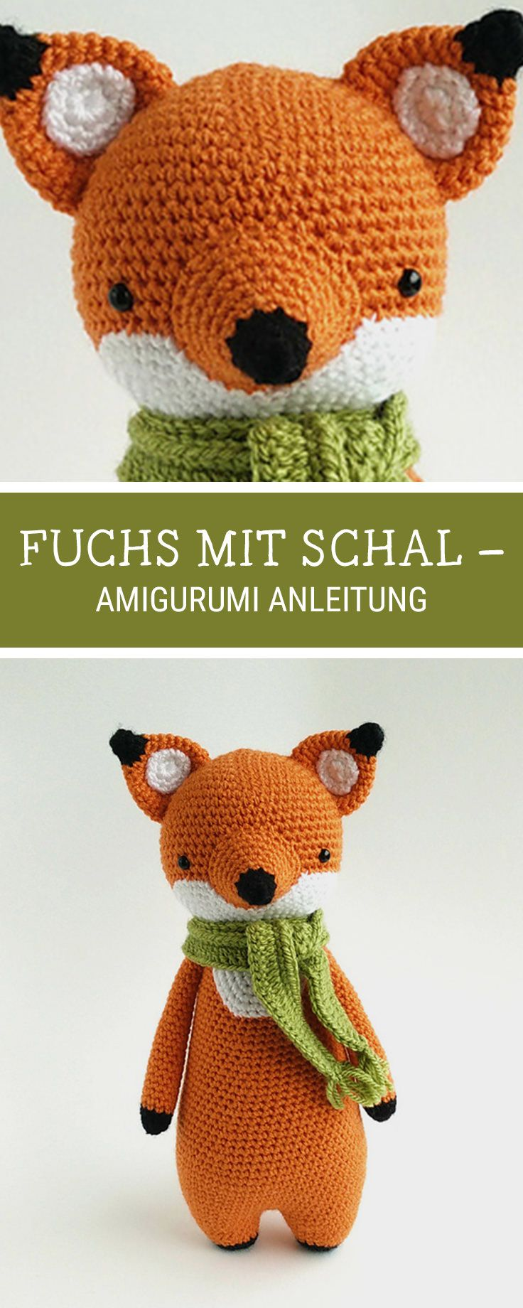 Amigurumi häkeln: Fuchs mit Schal häkeln / amigurumi pattern for a cute fox with scarf made by Little Bear Crocheted via DaWanda.com #amigurumimodelleri