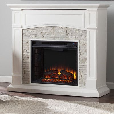 You Ll Love The Sheldon Faux Stone Media Electric Fireplace At