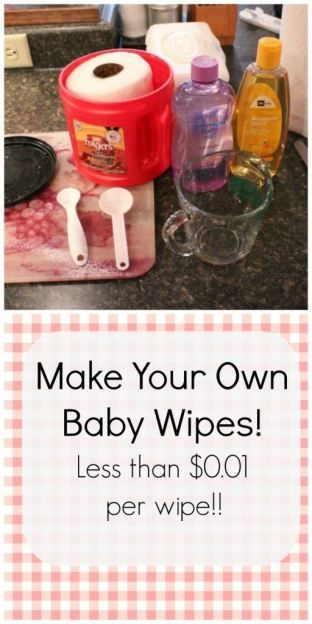 How to Make Your Own Baby Wipes!