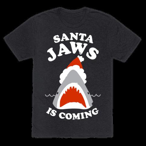 Santa Jaws Is Coming Tee