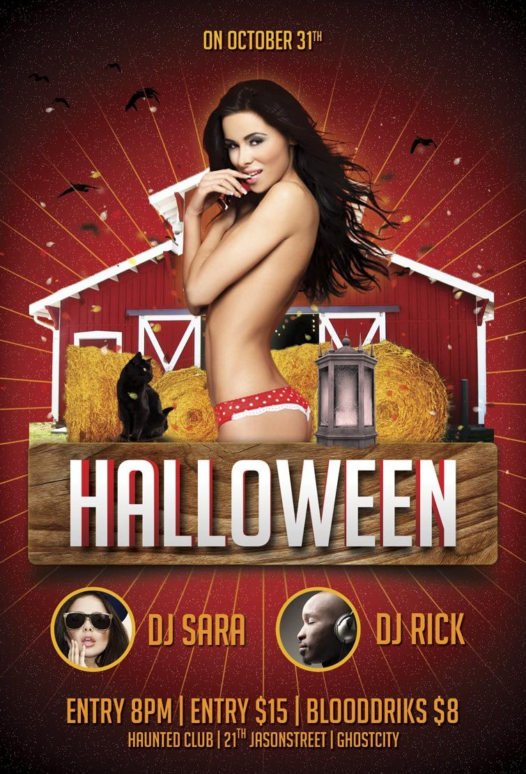 halloween party psd flyer template psdflyer com halloween party psd flyer template psdflyer com