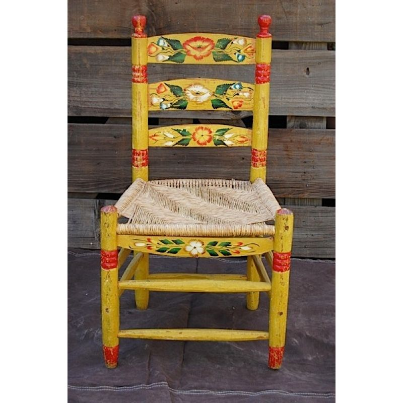 Vintage Mexican Hand Painted Chair Mexican Furniture Painted
