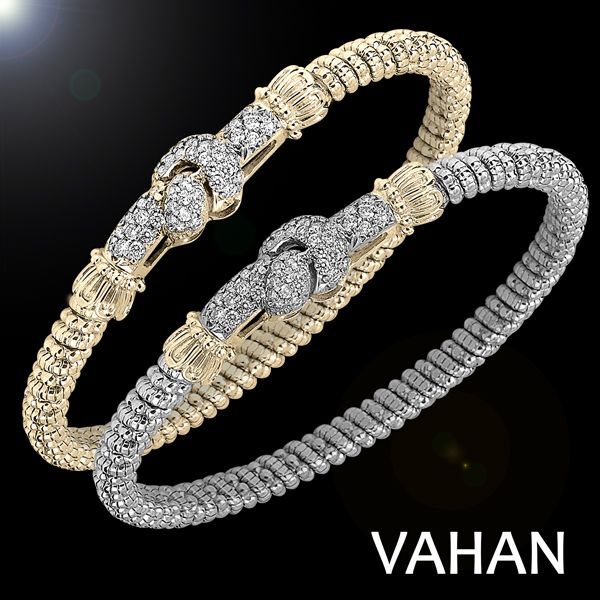 4 mm bracelet all in 14k gold and in gold and sterling silver with 0.79 diamonds  #VAHAN #VahanStyle #VahanLoveKnot #bracelet
