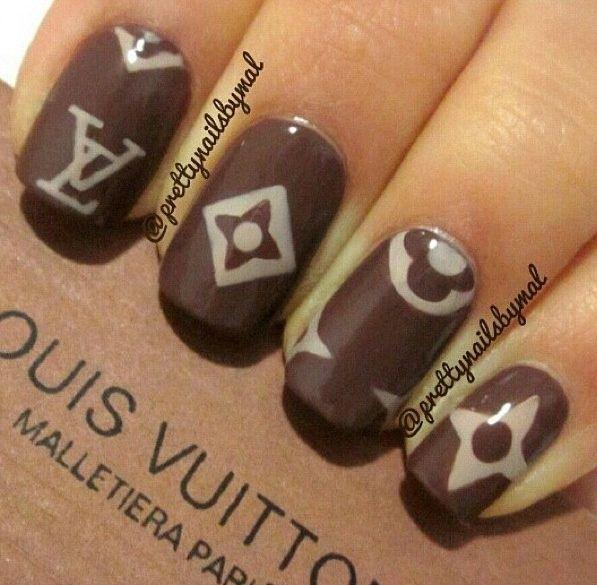 cool Simple Louis Vuitton Nails   Designer Inspired   Pinterest   Makeup