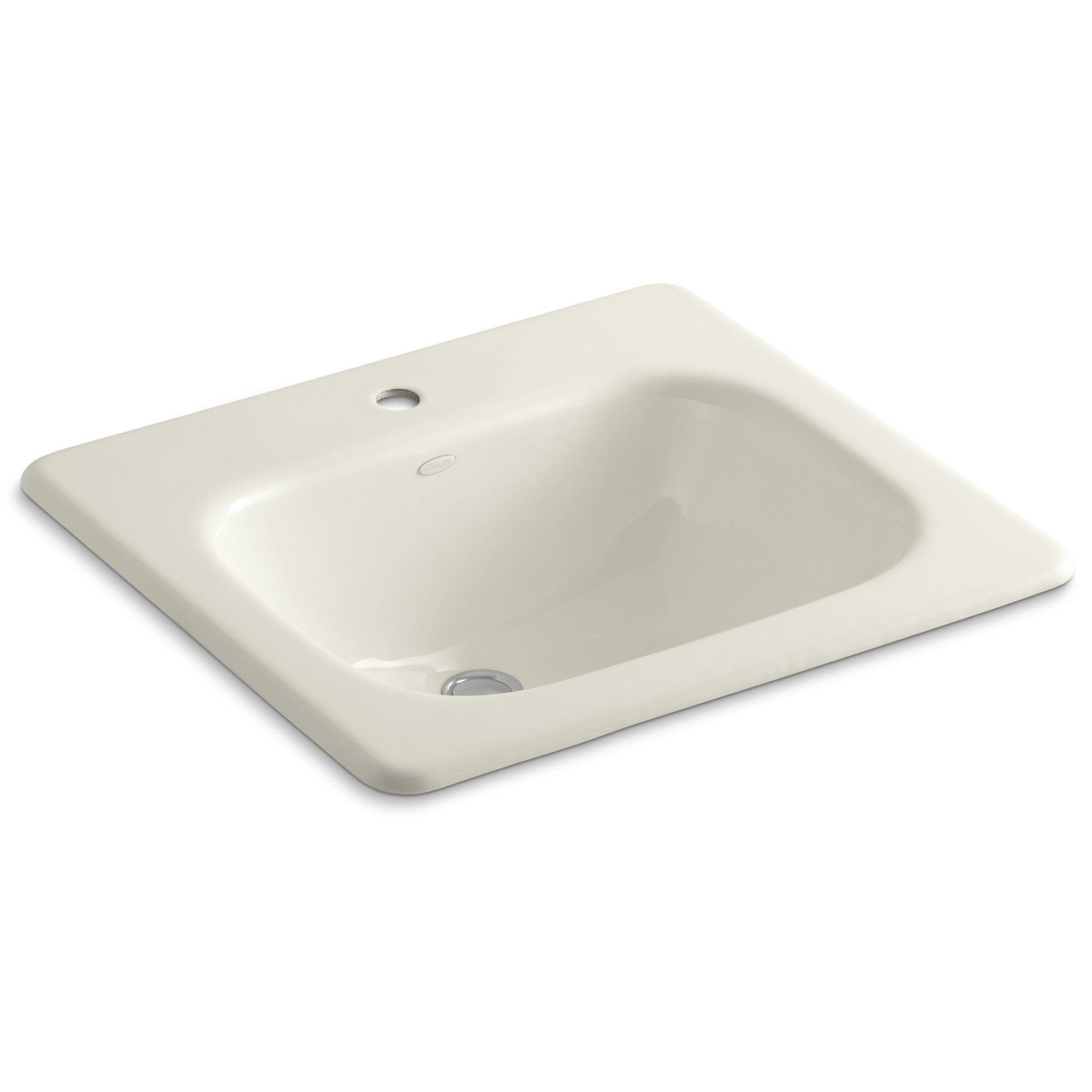 Tahoe Metal Rectangular Drop-In Bathroom Sink with Overflow ...