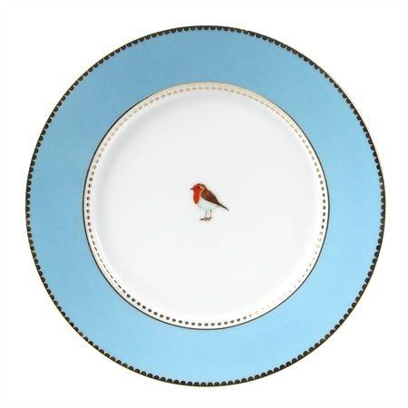 pipstudio blue dessert plates - lovebirds!