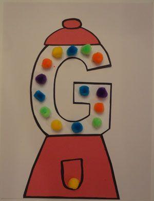 Letter G Gumball Craft Preschool Letter Crafts Alphabet Activities