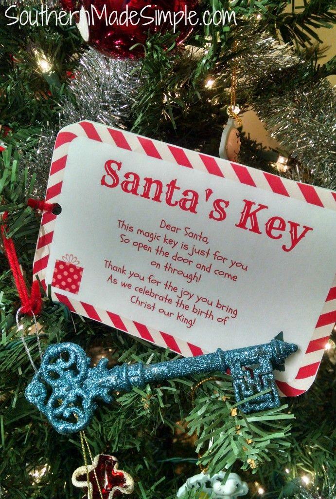 Polar Express Jingle Bell Santa/'s Magic Key-Childrens Christmas Decoration