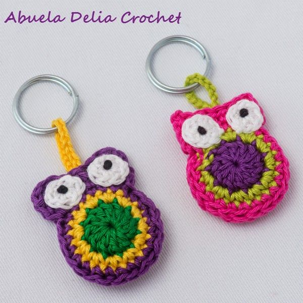 Abuela Delia Crochet: Llavero Buho | Owl Key Ring | Buhos - Owls ...