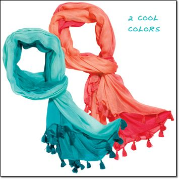 """Avon's mark. Bright And Breezy Scarf Rayon. Imported. 72"""" W x 48"""" H Price: $18.00 THROW SOME SHADE SUNGLASSES FREE, with any $20.00 instant vacation purchase on pages 134-141 in our mark. catalog. Order here: www.youravon.com/mhamilton39"""