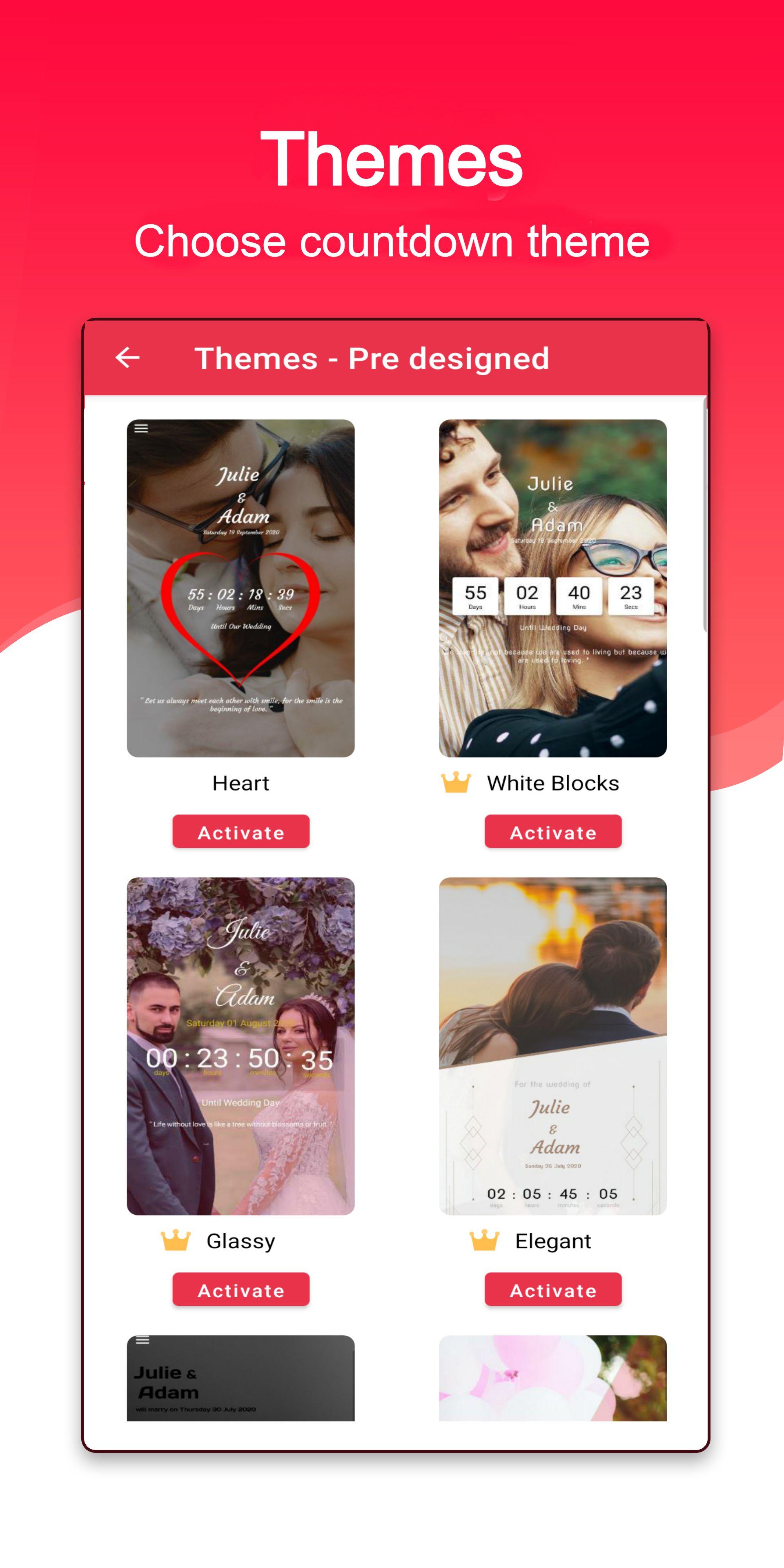 Wedding Countdown Themes In 2020 Wedding Countdown Theme Themes Themes
